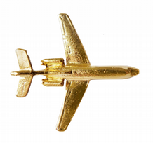 Dassault Falcon 50 Small Gilt Pin Badge - FG25